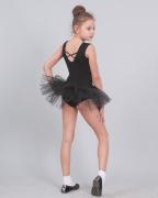Трико гимнастическое Т2011, с вшитой фатиновой юбкой