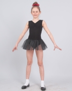 Трико гимнастическое Т2010 с вшитой фатиновой юбкой