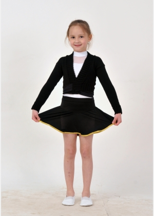 Ballet knitted wrap top B1543  Skirt for girls YU1629 ,Gymnastics clothing,Dancewear