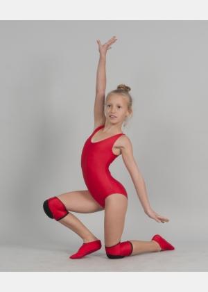 Трико (купальник) гімнастичне Т1057. Наколінники Н1791. Чешки Ч1835, Одяг для гімнастики, Одяг для танців