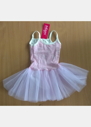 Трико (купальник) гимнастическое Т1852, юбка из фатина. Для выступлений, гимнастики, танцев