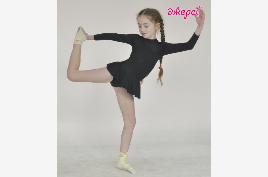 Трико гимнастическое с юбкой Т186, Одежда для гимнастики