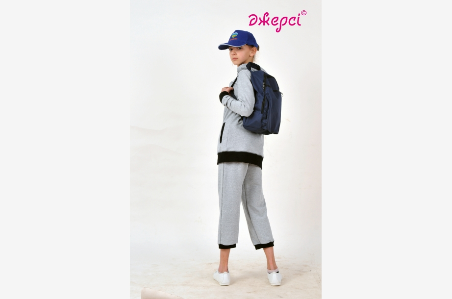 Jacket for girls К1645 ,Cap К1280, Backpack R1655, Sportswear,Activewear, Haberdashery