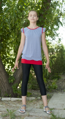 Туника девичья Т1512. Лосины Л1104, Одежда для активного отдыха
