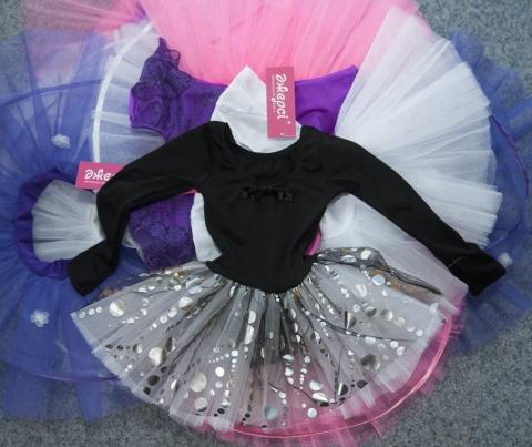 Трико гимнастическое с юбкой Т1687, Одежда для выступлений, Одежда для гимнастики, Одежда для танцев