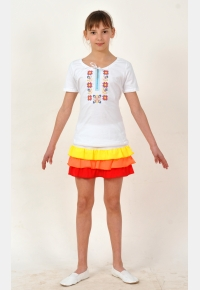 Футболка вышиванка Ф1603, Одежда для активного отдыха, Одежда для школы, Машинная вышивка