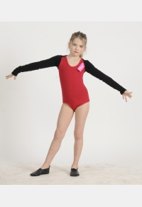 Gymnastic leotard Т56. Ballet  knitted wrap top B1188,Gymnastics clothing,Dancewear