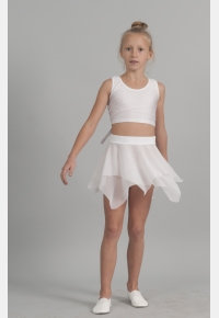 Skirt for girls YU1816. Top М908,Clothes for performances,Sportswear,Activewear