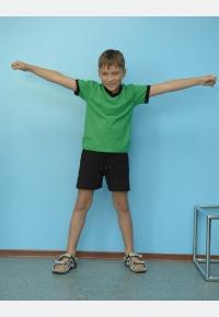 Children's t-shirt F132. Children's shorts  SH510