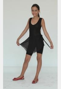 Трико гимнастическое Т680. Юбка девичья Ю557, Одежда для гимнастики